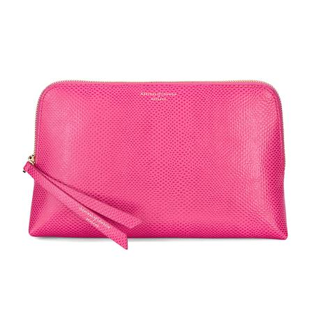 Large Essential Cosmetic Case in Raspberry Lizard