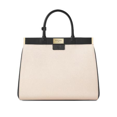 1fbb367b65 Large Florence Snap Bag in Monochrome Saffiano