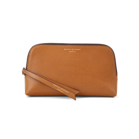 Small Essential Cosmetic Case in Smooth Tan