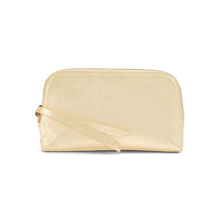 Small Essential Cosmetic Case in Pale Gold Pebble