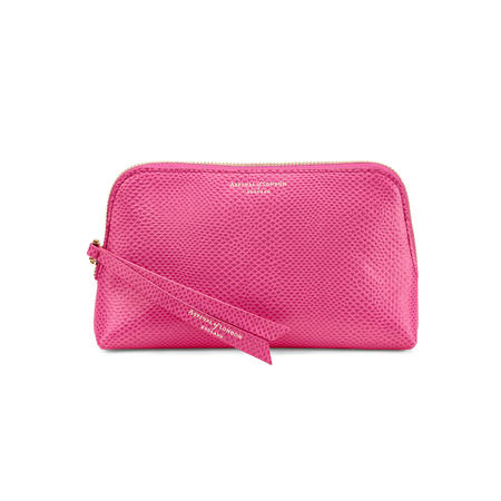 Small Essential Cosmetic Case in Raspberry Lizard