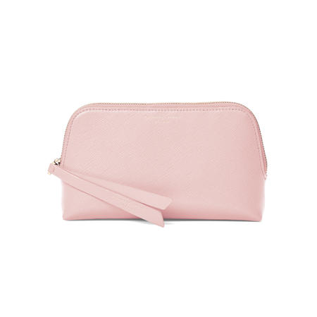 Small Essential Cosmetic Case in Peony Saffiano