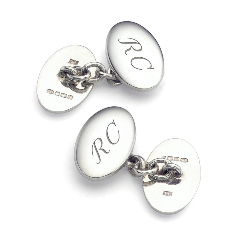 Classic Double Domed Sterling Silver Cufflinks