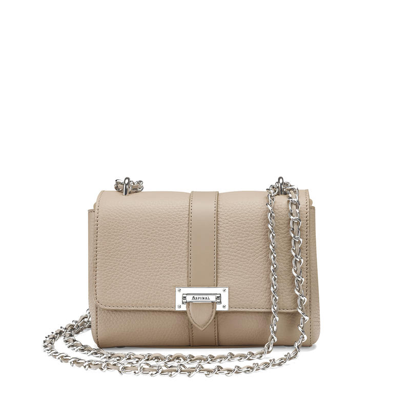 Lottie Bag in Soft Taupe Pebble