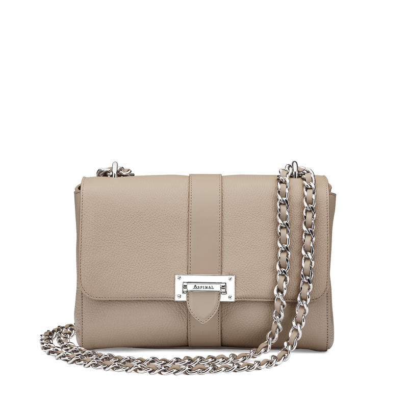 Large Lottie Bag in Soft Taupe Pebble