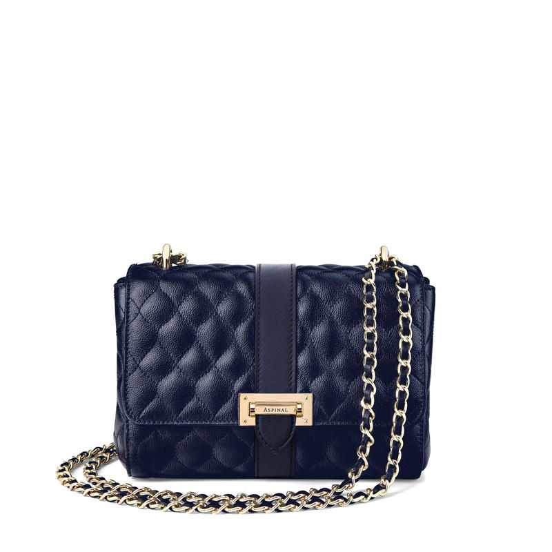 Lottie Bag in Navy Quilted Kaviar