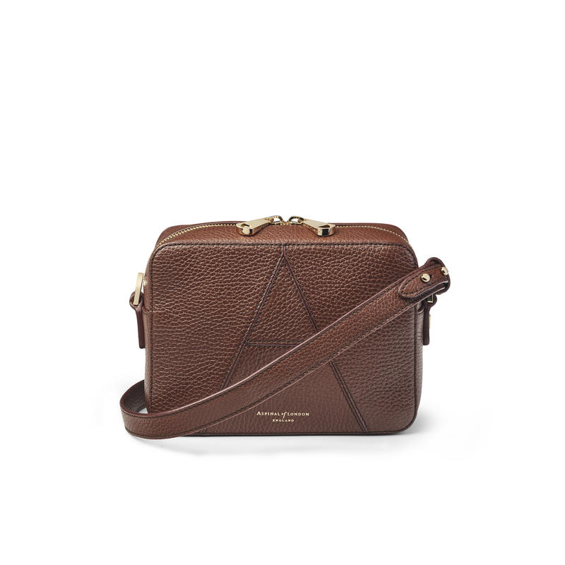 Camera 'A' Bag in Chestnut Pebble