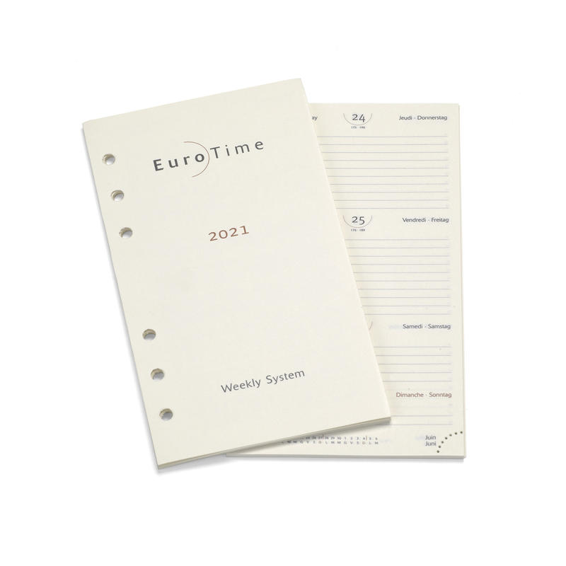 2021 Diary Insert for Compact Personal Organiser