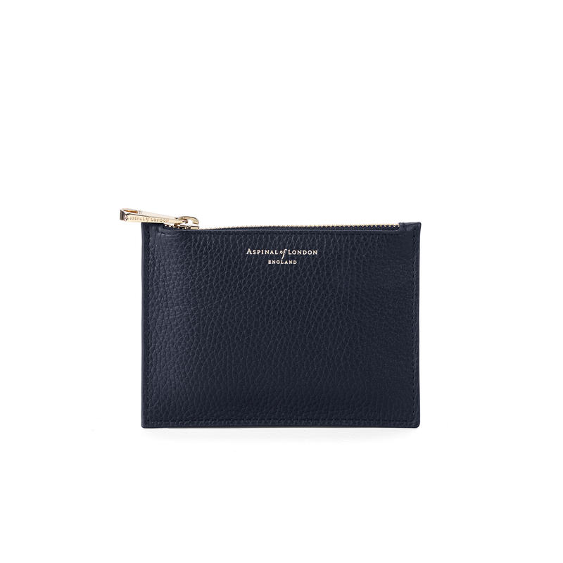 Small Essential Flat Pouch in Navy Pebble