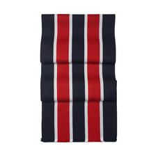 College Stripes Merino Wool Scarf in Navy, Red & White