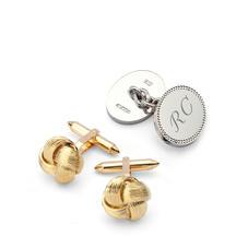 Sterling Silver, Gold & Enamel Cufflinks