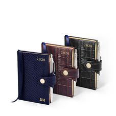 Mini Pocket Leather Diary & Pen