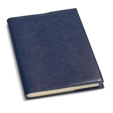 A4 Refillable Leather Journal in Navy Saffiano