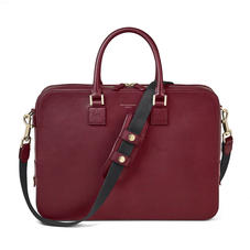 Small Mount Street Bag in Smooth Burgundy