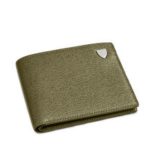 6 Card Billfold Wallet in Sage Saffiano & Smooth Sage