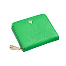 Slim Mini Continental Purse in Bright Green Saffiano