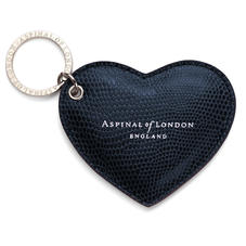 Heart Keyring Midnight Blue Lizard