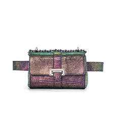 Micro Lottie Belt Bag in Iridescent Silk Lizard