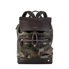 Anderson Backpack in Smooth Camouflage Print with Dark Brown Trim