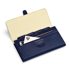 Classic Travel Wallet in Midnight Blue Lizard