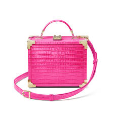 The Trunk in Deep Shine Penelope Pink Small Croc