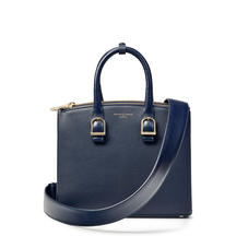 Midi Madison Tote in Navy Pebble
