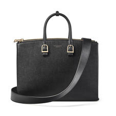 Madison Tote in Black Saffiano