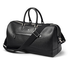 City Holdall in Black Saffiano