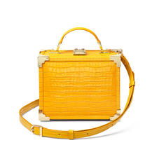 The Trunk in Deep Shine Bright Mustard Small Croc