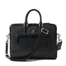 City Laptop Bag in Black Saffiano