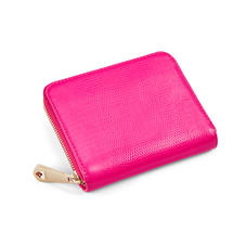 Slim Mini Continental Purse in Penelope Pink Silk Lizard
