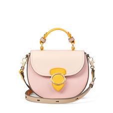 Saddle Bag in Shell Pink, Bloomsbury, Soft Taupe & Mandarin Pebble