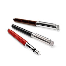 Sterling Silver & Leather Fountain Pens