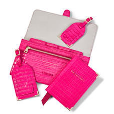 Classic Travel Collection in Penelope Pink Small Croc