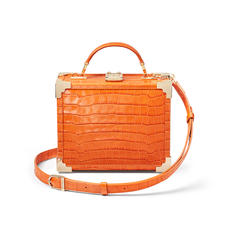 The Trunk in Deep Shine Marmalade Small Croc