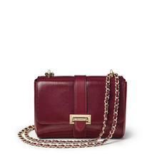 Lottie Bag in Bordeaux Silk Lizard