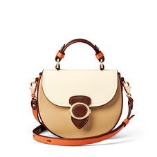 Saddle Bag in Chestnut, Sand, Ivory & Marmalade Pebble