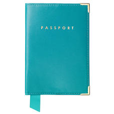 Passport Cover in Smooth Turquoise
