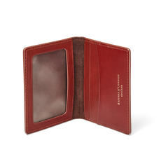 ID & Travel Card Holder in Smooth Cognac