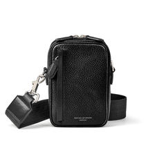 Reporter North South Bag in Black Pebble