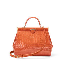 Small Florence Frame Bag in Deep Shine Marmalade Small Croc
