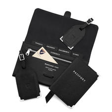 Travel Collection with Removable Inserts in Black Saffiano