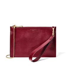 Soho Bag in Bordeaux Silk Lizard
