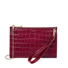 Soho Bag in Deep Shine Bordeaux Croc