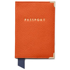 Passport Cover in Marmalade Pebble