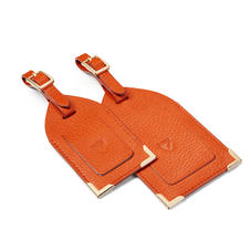 Set of 2 Luggage Tags in Marmalade Pebble