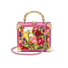 The Trunk in Embroidered Wildflowers & Hibiscus Small Croc