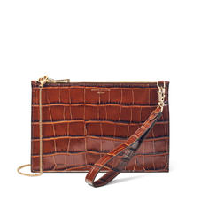 Soho Bag in Deep Shine Brown Soft Croc