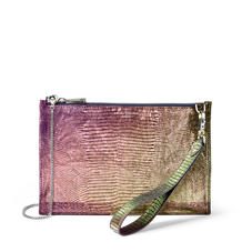 Soho Bag in Iridescent Silk Lizard