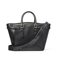 Midi Marylebone Tote in Black Pebble